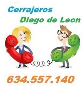 Telefono de la empresa cerrajeros Diego de Leon